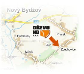 Dřevo NB - mapa